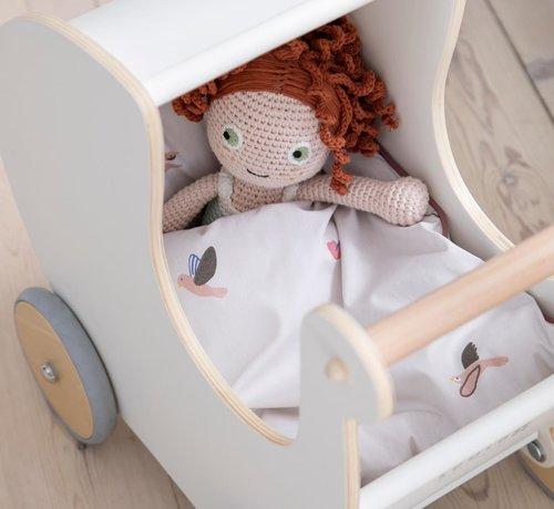 Sebra Bedlinen bed for dolls Singing birds