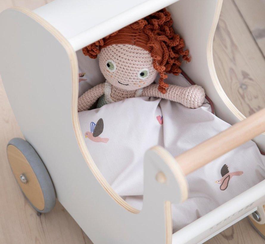Bedlinen bed for dolls Singing birds