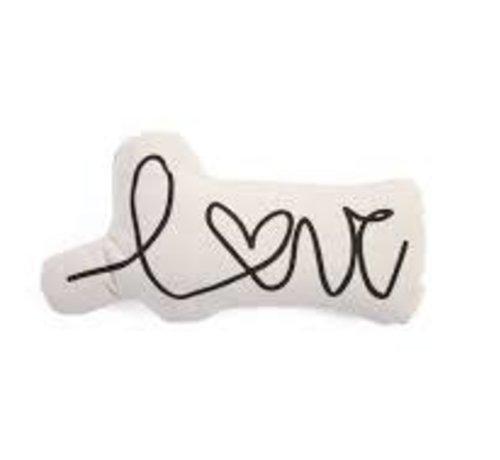 Canvas  kussen love letter