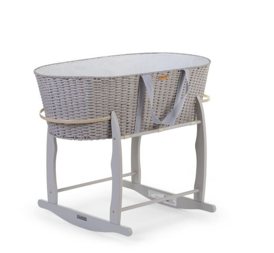 Rocking stand for Moses basket grey