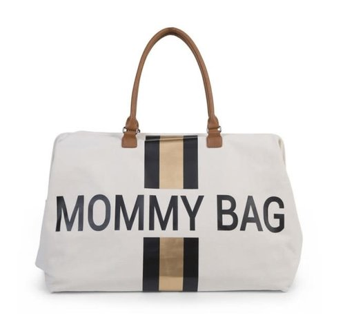 Childhome Diaper bag Mommy gold stripes