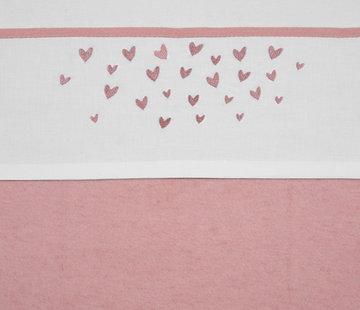 Meyco Bedlinnen sheet Hearts 100x150 cm