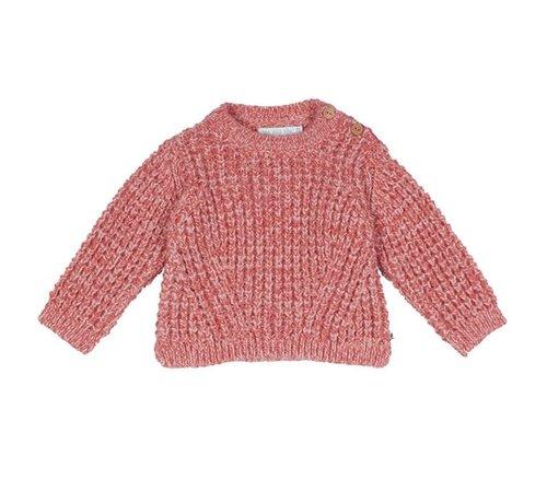 Blablabla Gebreide vest roze melee
