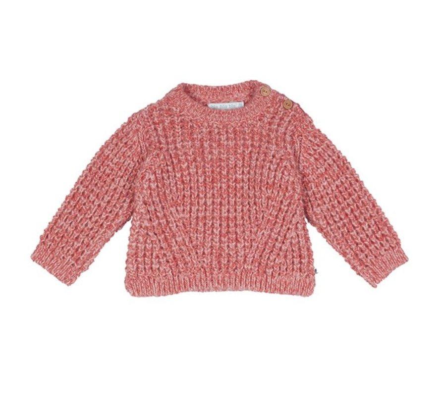 Gebreide vest roze melee