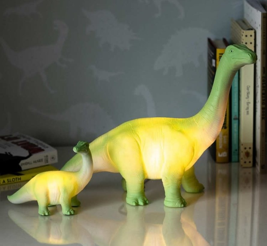 Mini LED lamp groene diplodocus