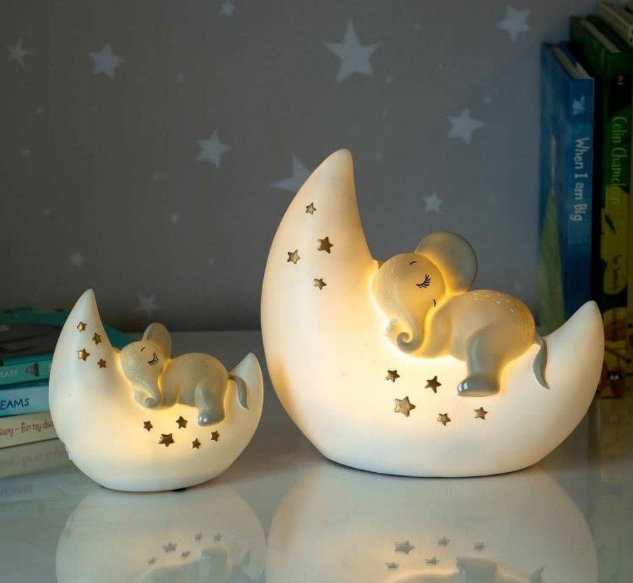 LED Lamp Olifant & Maan