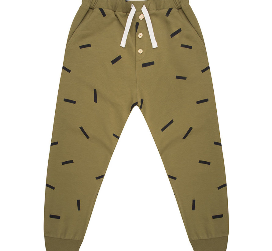 Pants olive stripe