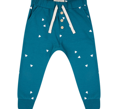 Little Indians Pants blue triangle