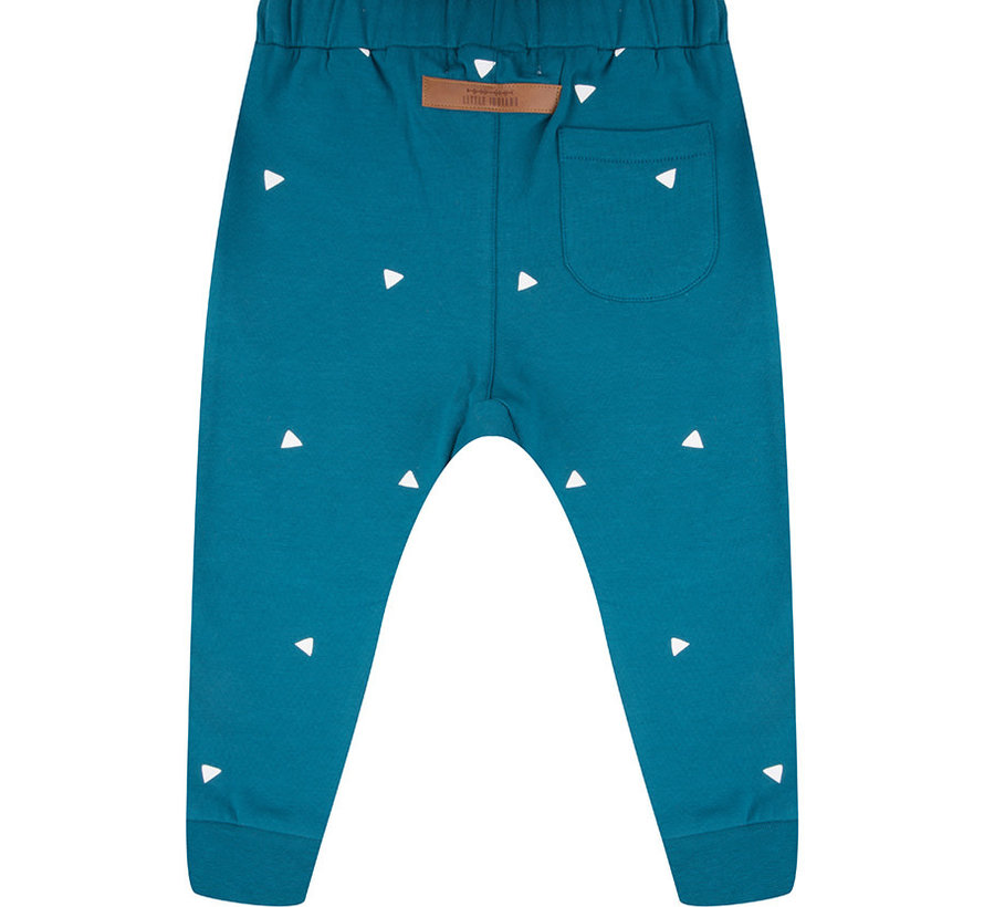 Pants blue triangle
