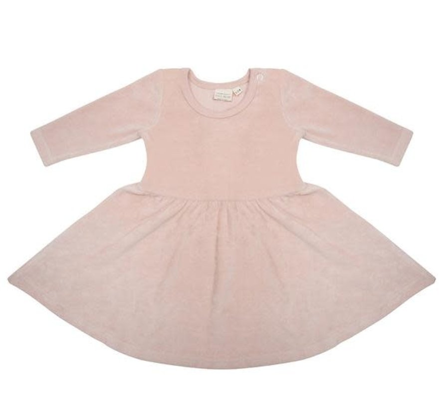 Jurk velours faded pink