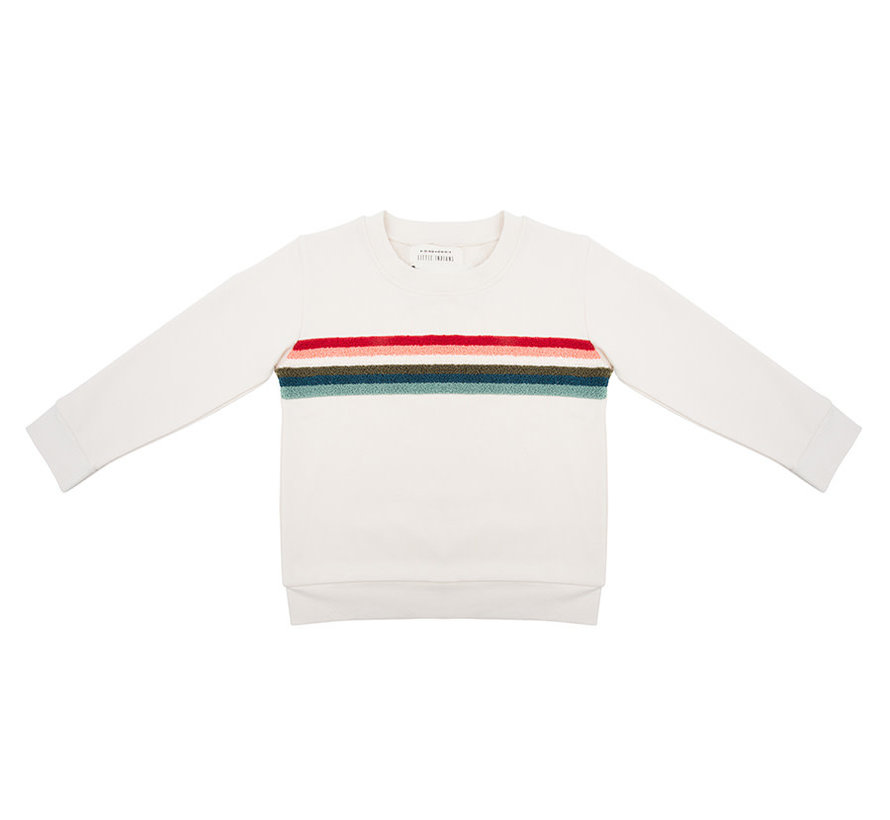Sweater Colorful rainbow ecru
