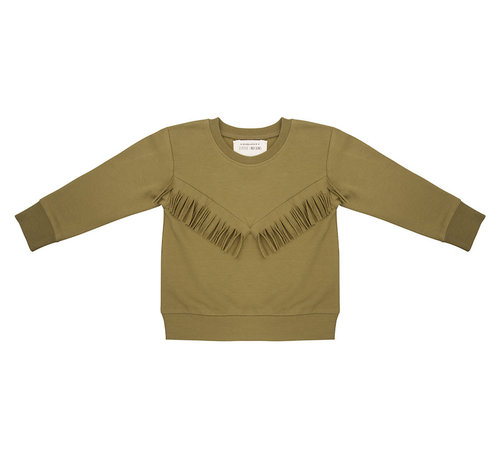 Little Indians Sweater Boho Olive
