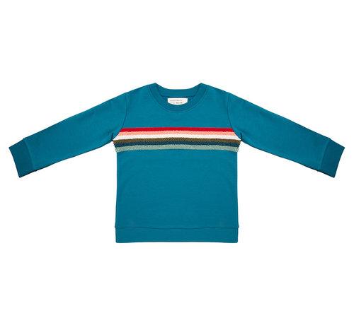 Little Indians Sweater colorful rainbow bleu