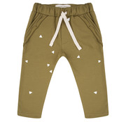 Little Indians Ruffle Pants Triangle olive