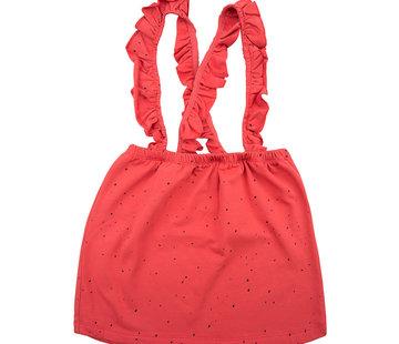 Little Indians Salopette Dress dots rood