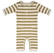 Little Indians Jumpsuit olive stripe