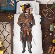 snurk Snurk pirate bedlinnen for single bed 140 x 220 cm
