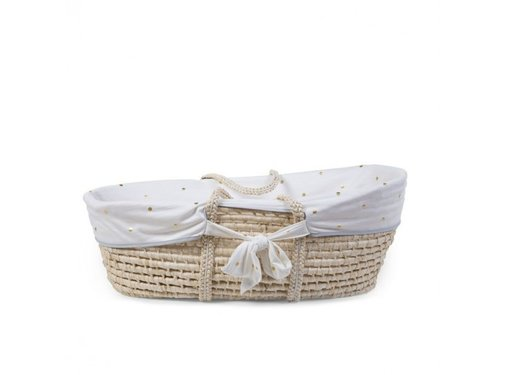 Childhome Moses basket lining gold dots