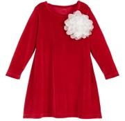 Thetinyuniverse Tiny flower dress velours red