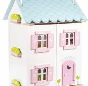 Le toy van Doll's house blue bird cottage