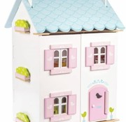 Letoyvan Poppenhuis blue bird cottage