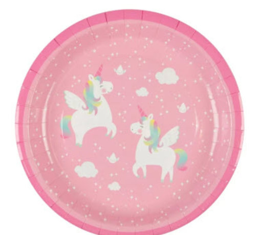 Sass & Belle Paper plate unicorn 8 pc