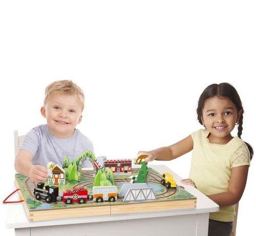 Melissa & Doug Take-Along Railroad (spoorweg) 3+