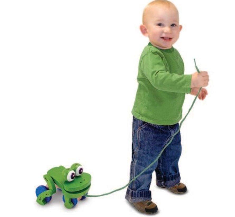 Frolicking Frog Pull Toy / Trekdier kikker