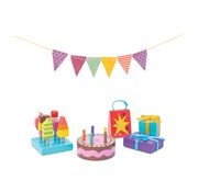 Le toy van Doll's house party time accessories