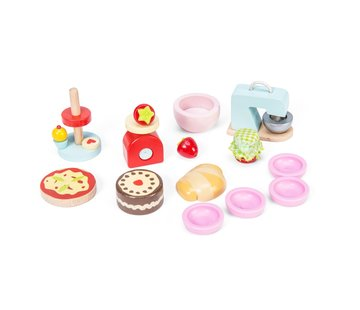 Le toy van Doll's house baking set accessories