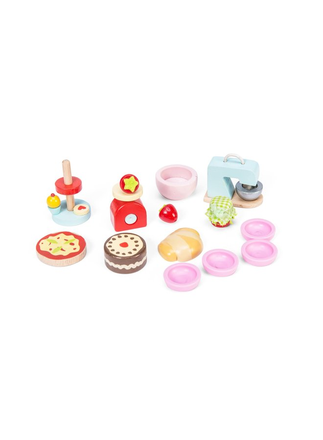 Doll's house baking set accessories