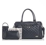 Isoki Verzorgingstas double zip satchel ebony