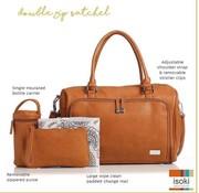Isoki Verzorgingstas double zip satchel amber