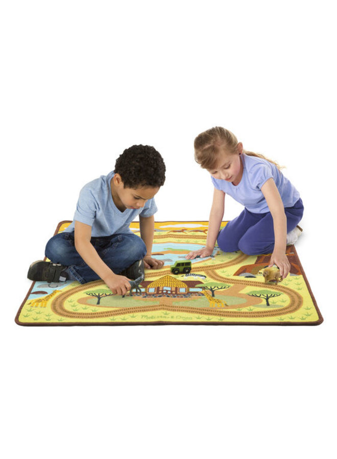 Round the Savanna Safari Rug 3+