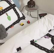 snurk Snurk Clay Traffic bedlinnen for single bed 140 x 220 cm