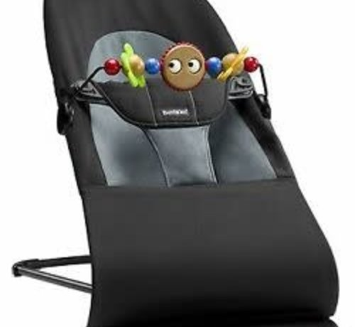 Babybjorn Relax Balance Soft Zwart/donkergrijs + speelgoed