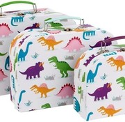 Sass & Belle Set of 3 little roarsome suitcases