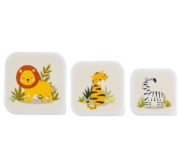 Sass & Belle Set van 3 snackdoosjes Safari