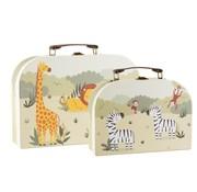 Sass & Belle Set of 2 Safari suitcases