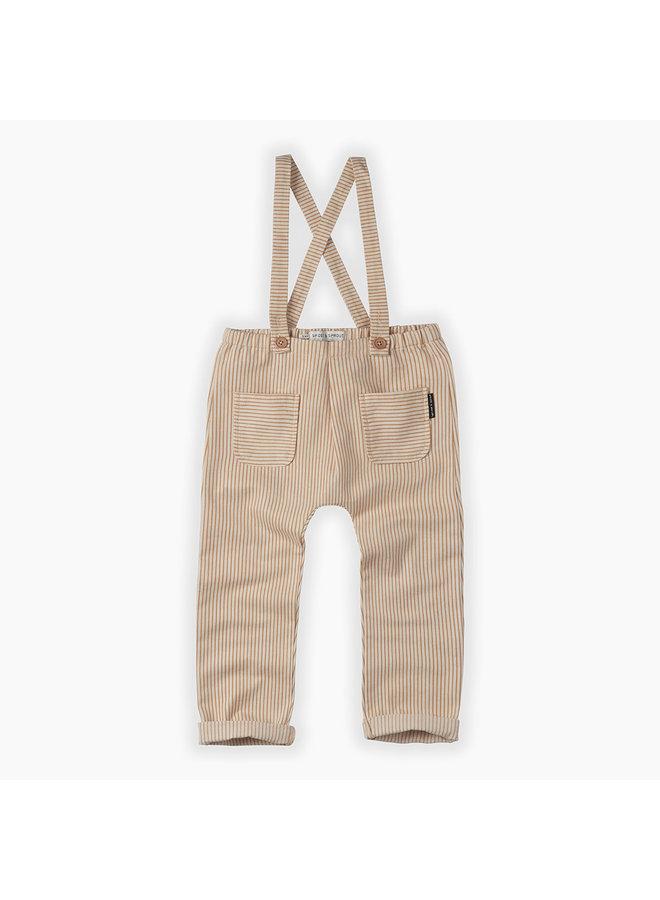 Pants suspenders pintstripe