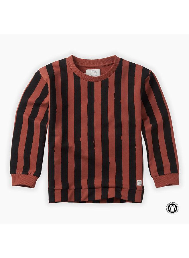 Sweatshirt painted stripe
