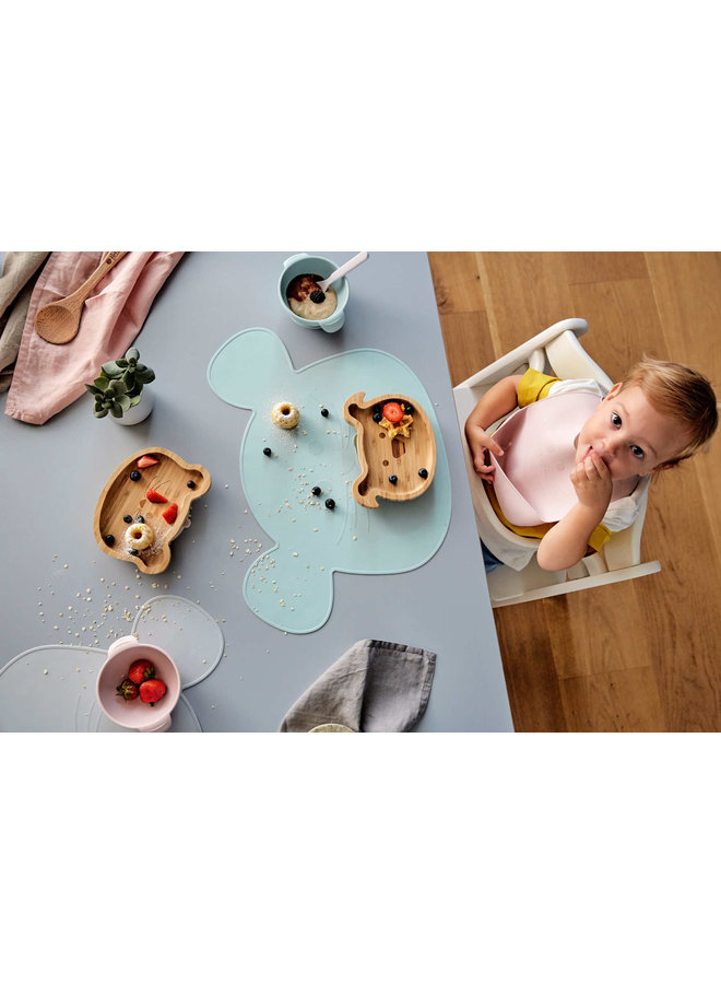 Little Chums Bamboo plate mouse with suction cup
