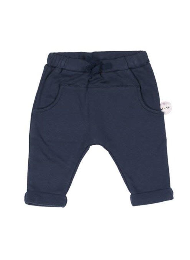 Blauwe zachte broek