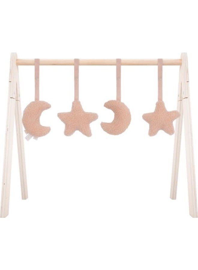 Babygym toys  moon & star pink