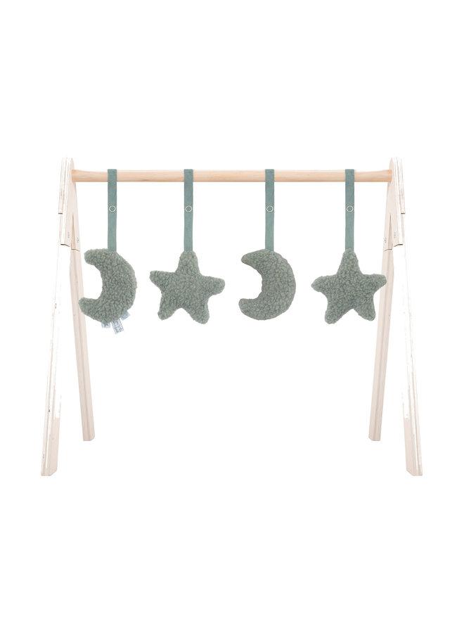 Babygym toys  moon & star green