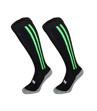 Hingly Hingly Funsokken 2 Stripes Black-Green
