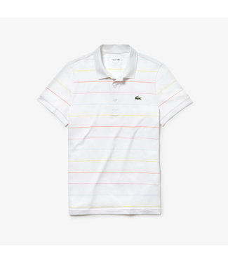 Lacoste Lacoste SPORT Technical Stripped Polo Wit