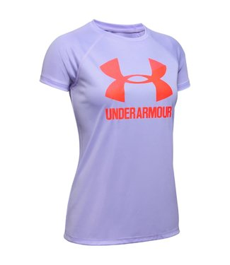 Under Armour Under Armour Tech Tee Girls Purple