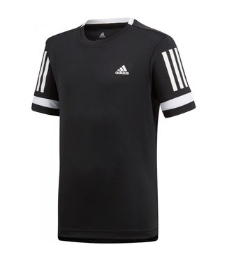 Adidas Adidas Club 3 Stripes Tee Black