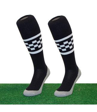 Hingly Hingly Funsokken Checker Stripe Black